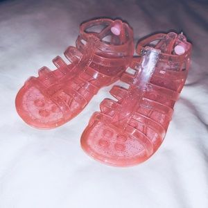 Other - Toddler Girl Pink Sparkle Jelly Sandals